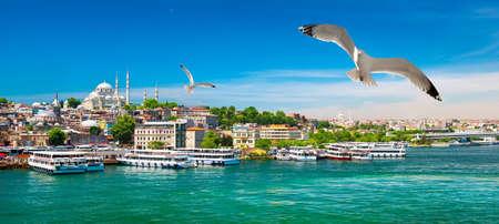 Golden Horn Bay of Istanbul 写真素材