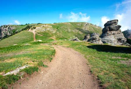 Road through mountains Stock fotó