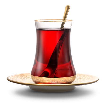 Thé turc aux pommes Banque d'images