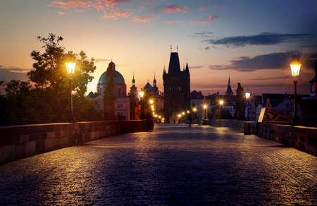 Charles Bridge in Prague Stock fotó