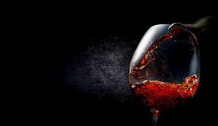 Wine on textured black Stok Fotoğraf