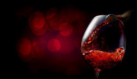 Wine on dark red Stok Fotoğraf