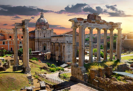 Morning on Roman Forum Banco de Imagens