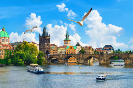 Vltava river and bridge
