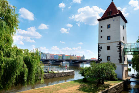 Water tower in Prague Stock fotó