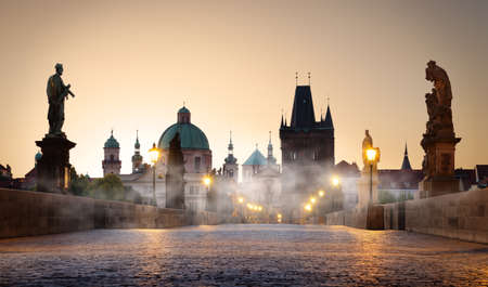 Fog on Charles Bridge