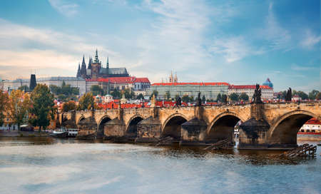 Ancient landmarks of Prague 免版税图像
