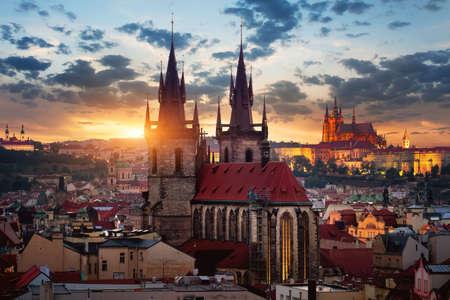 Tynsky temple in Prague Reklamní fotografie