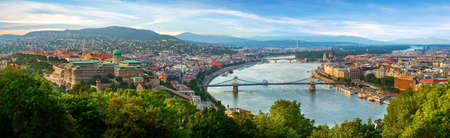 Panoramic view on Budapest Stock Photo