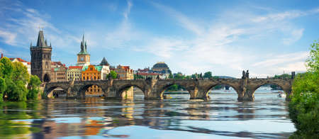 Charles bridge on Vltava 免版税图像