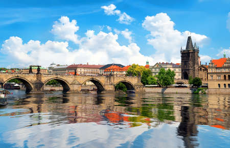 The Charles bridge 版權商用圖片