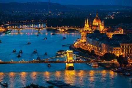 Budapest at twilight