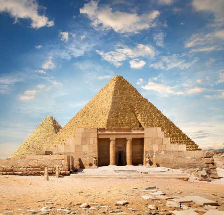 Ruins near the pyramids Stock Photo