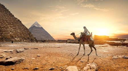 Pyramids landscape Egypt Stock Photo