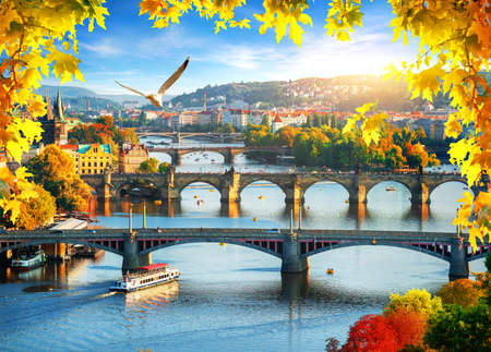 Prague in autumn Stock Photo - 116189660
