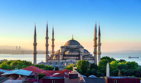 View of the Blue Mosque 스톡 콘텐츠