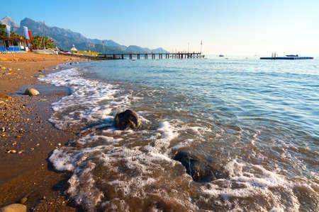 Mediterranean sea at morning Stock Photo