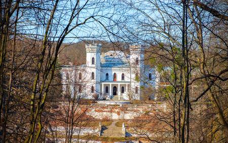 Old abandoned Sharovsky Palace in the Kharkov region, Ukraine Stock Photo