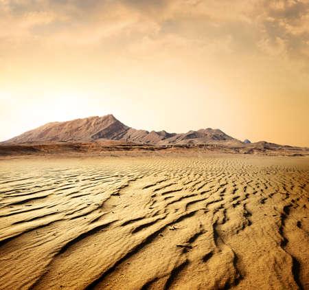 Egyptian rocky desert Stock Photo