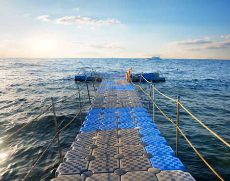Pontoon in sea