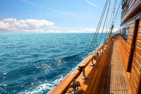 Yacht at sunny day Stock Photo