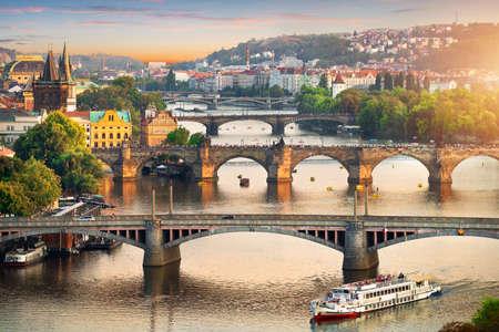 View on bridges of Prague Stock Photo