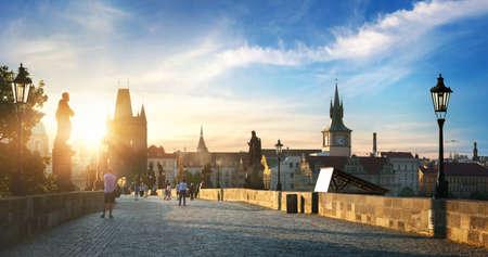 Prague at dawn 写真素材