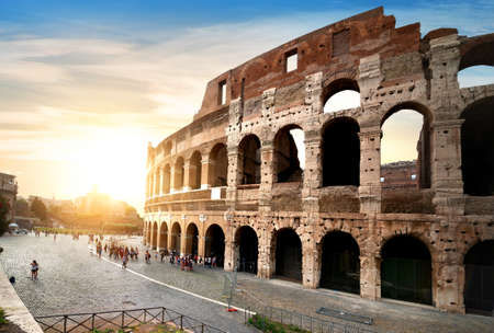 Ancient Colosseum in Rome Stock Photo