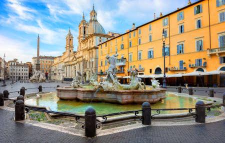 Navona in Rome 写真素材