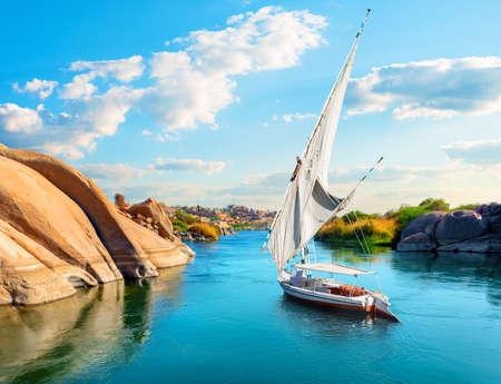 River Nile in Aswan 写真素材