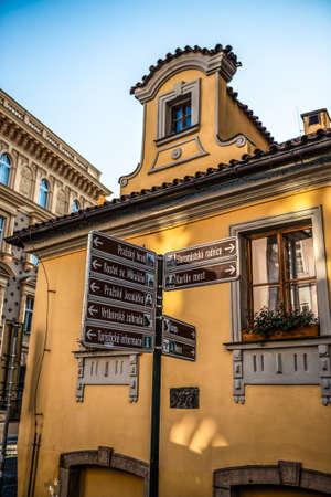 Facade building of Prague