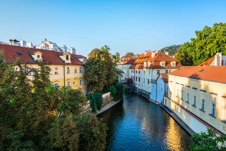 Canal in Prague Stock fotó