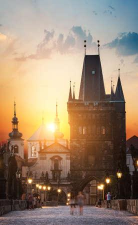 Praga o świcie Zdjęcie Seryjne