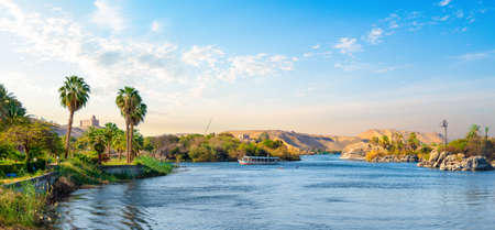 Panorama of Nile river Stockfoto - 122413903