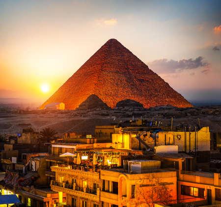 Pyramid of Giza Standard-Bild