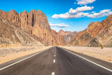 Highway In desert Stock Photo