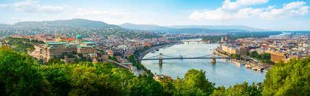 Panoramic of Budapest Imagens