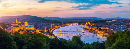 Budapest at sunset 写真素材