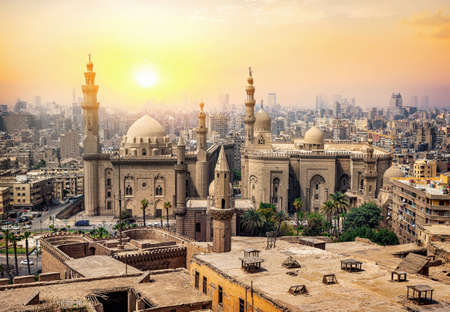Mosque Sultan in Cairo 写真素材 - 123321221