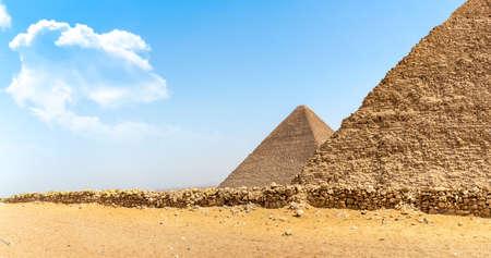 Giza and desert 写真素材 - 123321222