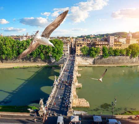 Tiber in Rome 写真素材 - 124005513