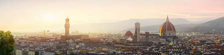Panoramic view of Florence in early morning Stock Photo