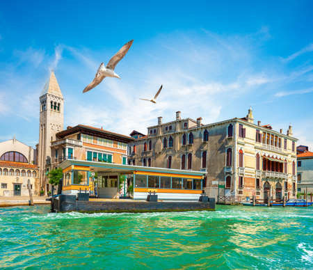 Vaporetto stop in Italy 写真素材