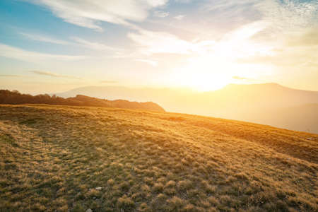 Beautiful sunset in Crimean 写真素材 - 125025808