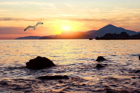 Sunset in adriatic sea