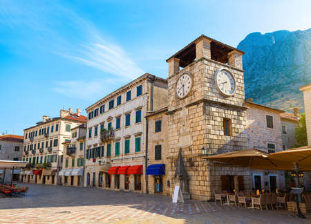 Clock Tower of Kotor 写真素材 - 128850017