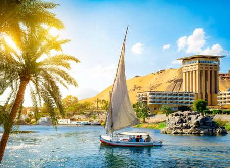 Żaglówki na Nilu