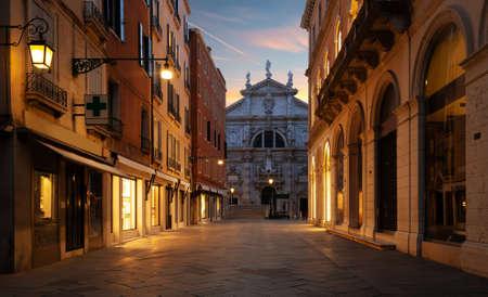 Catholic church San Moise in Venice, Italy Imagens