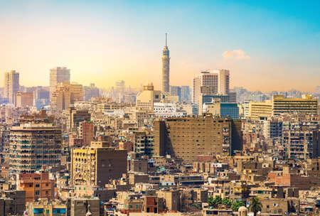 Il Cairo di sera Archivio Fotografico