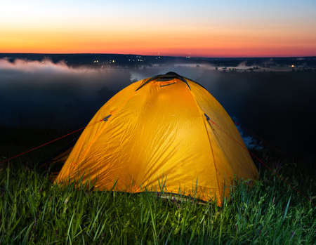 Tent in steppe